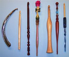 Know someone who crochets? How cool would it be to give them vintage crochet hooks in a shadow box or Nimbus case?