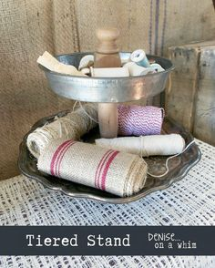 Tiered Stand From a VIntage Platter and Baking Pan