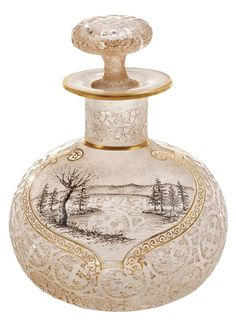 Daum Nancy Etched Perfume Bottle, 1891-92