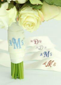 I love monograms! David's Bridal | Ceremony & Reception | Wedding Accessories | Ceremony | Handkerchiefs and Traditions
