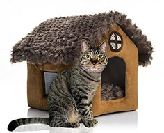 Pet House Supplies Dog House Brown Cottages Cat Dog Bed House Kennel Doggy Warm Cushion Basket *** Read more reviews of the product by visiting the link on the image.