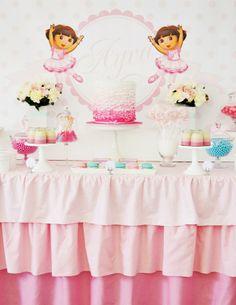 Festa inspirada na Dora Aventureira Bailarina