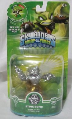 Skylanders Swap Force Silver Gold Stink Bomb Variant Brand New Very Rare