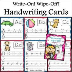 This is a great center idea to add to your Alphabet activities. Students will practice tracing and writing uppercase and lowercase letters A - Z. Great for extra practice during word work, morning work, or even homework. Handwriting Activities, Handwriting Alphabet, Handwriting Practice, Alphabet Activities, Preschool Activities, Cursive, Work Activities, Writing Lines, Easy Writing