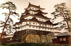 NAGOYA CASTLE -- Topped by Two Golden CARP NOT DOLPHINS  by Okinawa Soba via Flickr  The above print used for this post was made by T ENAMI after 1892