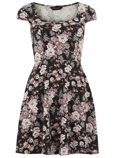 Photo 1 of Floral print sweetheart dress