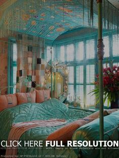 color and texture gypsy style bedroom decorating ideas