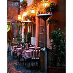 Italian Restaurant Photograph ❤ liked on Polyvore featuring home, home decor, wall art, italy, pictures, outside wall art, outside home decor, photo picture, italian wall art and outdoor wall art