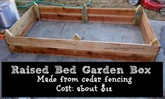 A completed raised bed (upside down) The stakes will hold it in place in the garden | PreparednessMama #gardeninghacker