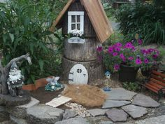 My tree stump gnome house 2015