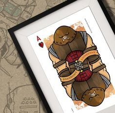 Juggernaut X-Men Playing Card Print A4 by BeastBoxDesigns on Etsy