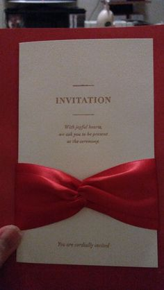 Invitation Cards Garden Theme Classic Theme Summer Spring Fall Winter Red Classic Style Vertical Wrap & Pocket Card Paper Yes Yes Side Fold Yes 0.95kg Ribbons (Set of 50) Wedding Invitations