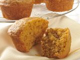 VeryBestBaking.com | LIBBY'S Pumpkin Muffins -- I used 1 c brown sugar and a half cup granulated sugar instead of 3 c sugar total. and added dark chocolate chips. now they are a favorite.
