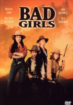 "Madeleine Stowe ""Cody Zamora"", Mary Stuart Masterson ""Anita Crown"", Andie MacDowell ""Eileen Spenser"", Drew Barrymore ""Lilly Laronette"", & more ~ Bad Girls (1994)"