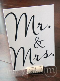 Mr & Mrs Sweetheart Table Sign  Fancy Table Signs  by marrygrams, $4.00