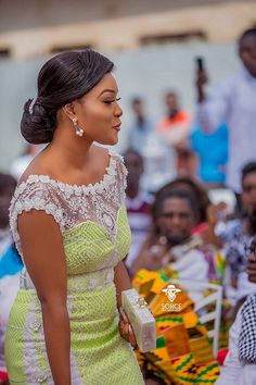Popular Ghanaian celebrities, A-Plus and Akosua Vee got married over the weekend, and we've brought to you very beautiful photos from the lovely event
