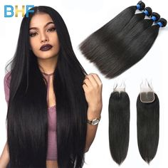 3/4 Bundles With Closure Human Hair Weaves Ingenious Queenbeauty 360 Lace Frontal With Bundle Pre Plucked 613 Blonde Color Brazilian Straight Remy Human Hair 4 Bundles With Closure