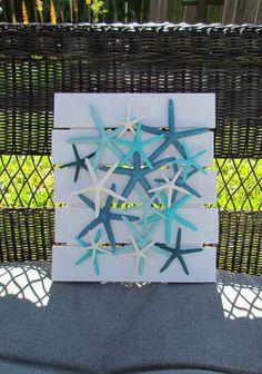 Starfish Wall Hanging Coastal Decor Collage by HomeSweetCoast