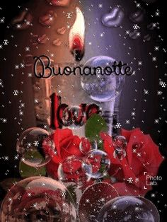 🌌🌷Una bellissima notte a domani sogni d'oro a tutta la community 🌃🌃🌹🌉💖. Good Night Friends, Good Night Wishes, Italian Greetings, Italian Quotes, Winter Cards, Growing Flowers, Bubbles, Community, Nighty Night