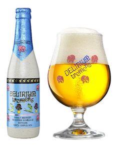 DELIRIUM TREMENS 8,5% - Belgian Strong Pale. One of my favorite beers of all time. A great drink on a hot summers day. Bold flavor with light hops.