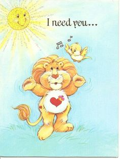 *Care Bear Cousins Brave Heart Lion. I need you...