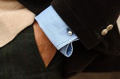 "thestylebuff: "" Denim Shirt + Cuff Links """