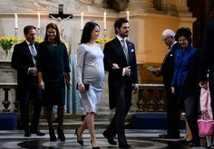 """In the afternoon of March 03, 2016, The Royal Chapel held a religious service in honor of the newborn Prince Oscar Carl Olof, Duke of Skane. Stockholm. King Carl Gustaf, Queen Silvia, Princess Madeleine, Christopher O'Neill, Prince Daniel, Princess Estelle, Prince Carl Philip and Princess Sofia attended the """"Te Deum"""" church service at the Royal Chapel in Stockholm, Sweden. (The Te Deum is an early Christian hymn of praise. (Latin: God, We Praise You), Latin hymn to God the Father and Christ…"""