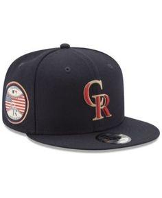 56fe13264ee New Era Colorado Rockies Full Americana Patch 9FIFTY Snapback Cap - Blue  Adjustable Philadelphia Phillies