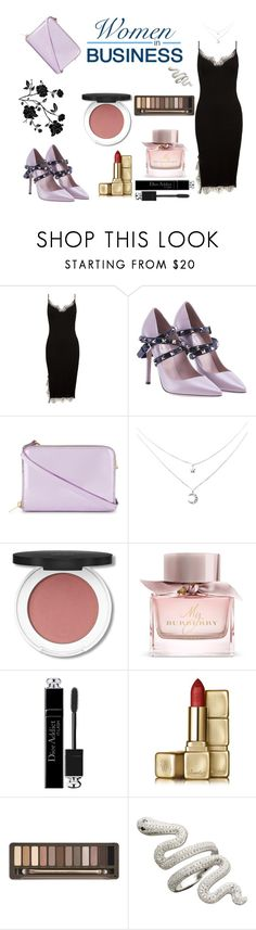 """""""Bossy woman"""" by roxx1993 on Polyvore featuring Sans Souci, Valentino, Sophie Hulme, Burberry, Christian Dior, Guerlain and Urban Decay"""