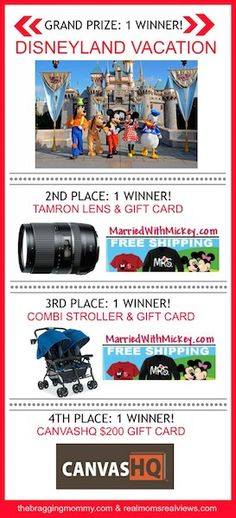 Win a Disneyland Vacation and other Prizes (Ends 6/30/14)