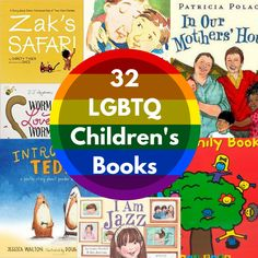 Long and diverse list of LGBTQ Children's books. Awesome books to add to any home or school library. Great LGBT books for young children. Kissing Hand Crafts, The Kissing Hand, Feminist Books, Queer Books, Lgbt, Library Books, Kid Books, Library Themes, Class Library