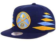 Denver Nuggets Mitchell and Ness NBA Solid Diamond Snapback Cap