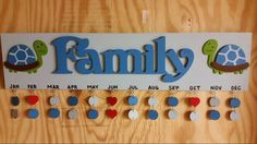 Sweet T's Custom Creations ...Family Birthday sign