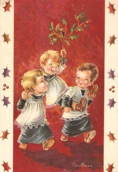 Illustrations vintage mignonnes de C