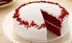 Red-Velvet-Cake Rezept: Tiefroter Kuchen mit erfrischendem Frosting - Eins von vielen köstlichen gelingsicheren Rezepten von Dr. Oetker!