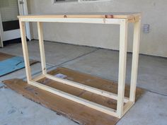 Home Projects Modern Made Home - DIY Entry Table - Modern Made Home Your Teen: Tips On Successfully Wood Entry Table, Diy Entryway Table, Entry Tables, Entryway Ideas, Sofa Tables, Diy Table, Coaster Furniture, Furniture Projects, Crafty Projects