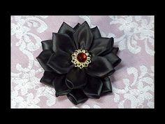 How To Make Kanzashi Flower, How to do, Tutorial, DIY - YouTube