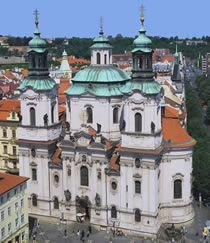 Picture of Top view of the church of St Nicholas of Old Town in Prague, Czech Republic stock photo, images and stock photography. Prague Old Town, River Cruises In Europe, Prague Czech Republic, Old Town Square, Saint Nicholas, Architecture Old, Most Beautiful Cities, Free Travel, Top View
