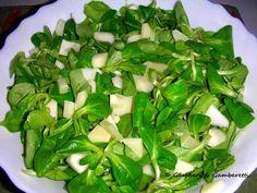 Körtés,diós, narancsos madársaláta Spinach, Vegetables, Recipes, Dios, Recipies, Vegetable Recipes, Ripped Recipes, Cooking Recipes, Veggies