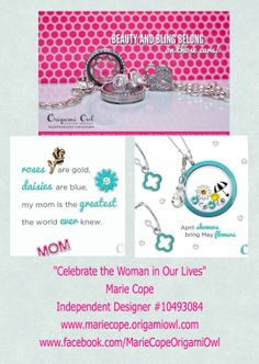 Mother's Day is weeks away!!!  Why not create a customized Origami Owl Living Locket with me @ www.asaylor.origamiowl.com  Thanks!