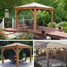 Pt. 3 Costco Yardistry 12x14 Wood Gazebo Final EMBLY | Gazebo ... Embly Home Double Wide Gazebo Design on