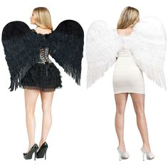 Adult Feather Angel Wings Costume Accessory Adult Womens Halloween