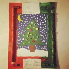 """Heute im Adventskalender von K1 """"Der Weihnachtsbaum hofft er verpasst nicht die Bescherung."""" #lebenmitkindern #kinderkunst #kidsart #diy #elternblog #familienblog"""