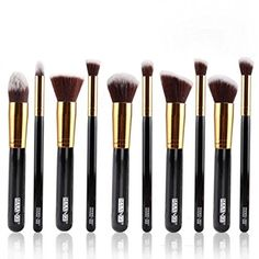 10Pcs Plastic Handle Professional Cosmetic Makeup Brush Set 10013315 -- Want additional info? Click on the image.