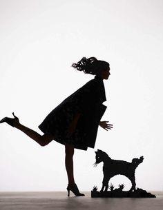 """Festive Fairytale"": Marte Mei van Haaster as Paper Silhouettes by Viktor & Rolf for Vogue Netherlands December 2015"