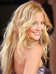 Most Beautiful People - 100 most beautiful, , in touch weekly Kate Hudson looks stunning with loose waves, and has recently debuted these locks as Dance Instructor on Glee!The Debut The Debut may refer to: Beach Blonde Hair, Beach Hair, Yellow Blonde Hair, Tan Blonde, Platinum Blonde, White Hair, Wavy Hair, Her Hair, Sleek Hair