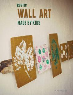 DIY Wall Art Made By Kids » PLAYTIVITIES