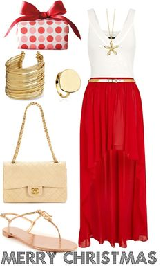 """Summer Christmas outfit"" by stacylala01 on Polyvore"