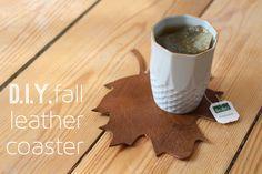 Herbstlich, dekorativ & praktisch: DIY Untersetzer aus Lederresten ganz einfach selbermachen! (Anleitung, Herbst, Tutorial, Teezeit, Deko, Upcycling)
