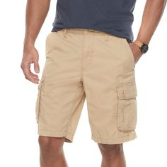 Men's SONOMA Goods for Life™ Modern-Fit Lightweight Twill Cargo Shorts, Red/Coppr (Rust/Coppr)
